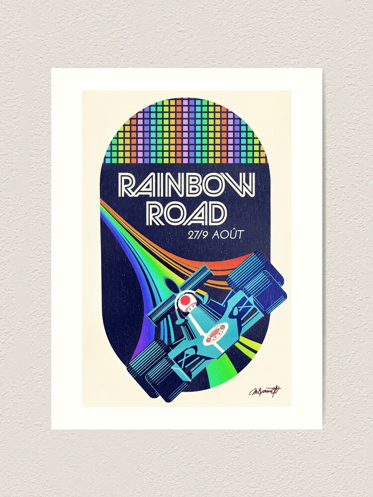 Alternate view of Rainbow Road Grand Prix Art Print