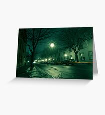 Racoon City Greeting Card