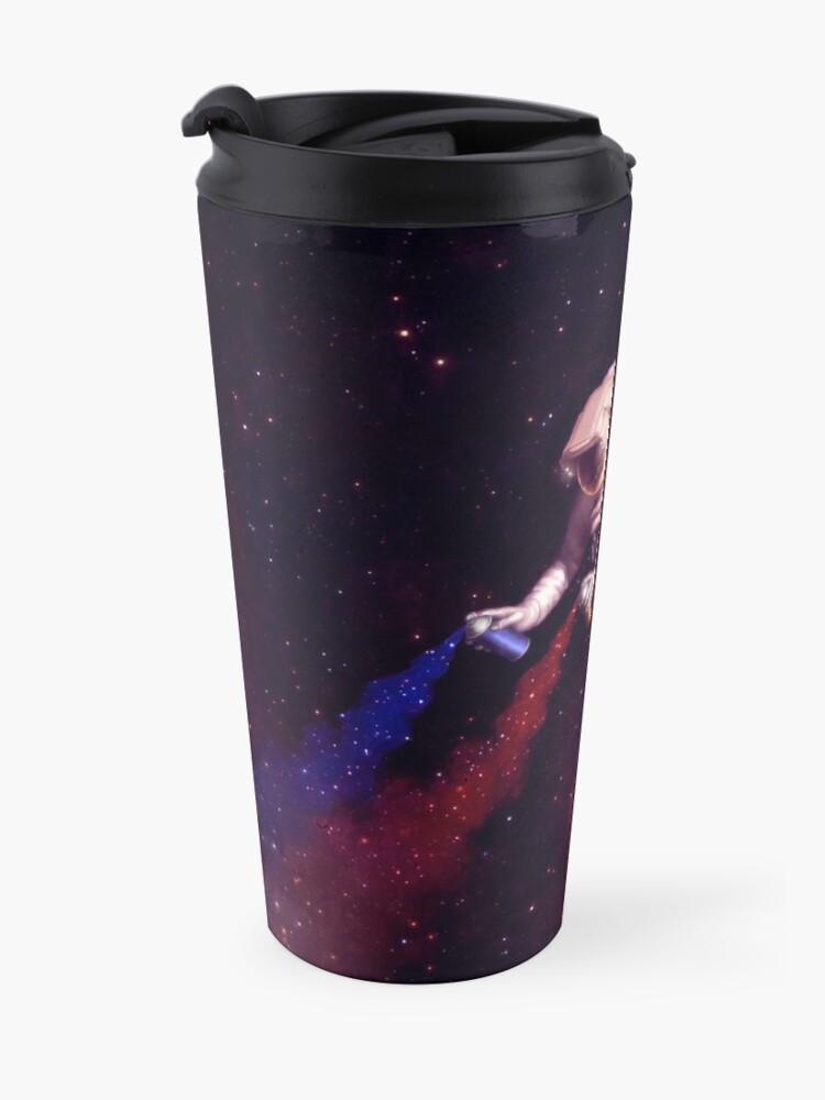 Alternate view of Shooting Stars - the astronaut artist Travel Mug