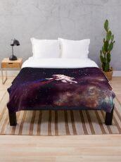 Shooting Stars - the astronaut artist Throw Blanket