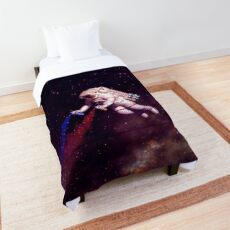 Shooting Stars - the astronaut artist Comforter