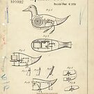 Vintage Duck Toy Patent Drawing by Douglas E.  Welch