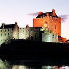 Eilean Donan Castle  at night , the Highlands ,  Scotland by David Rankin