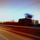 Spokane in the blurr. by Mr. Sherman