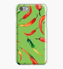- Chilli pattern (green) - iPhone Case/Skin