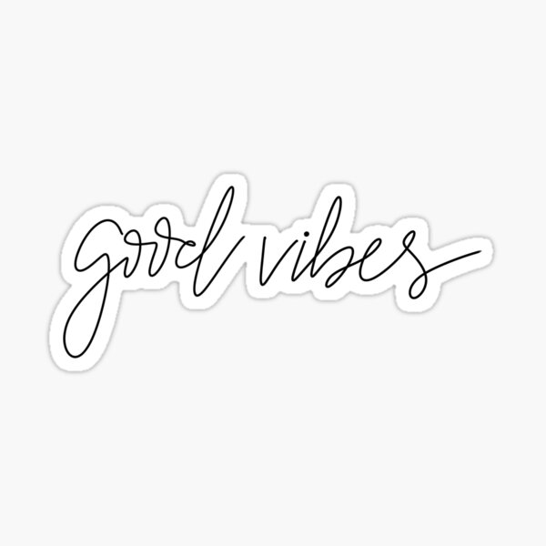Handmade Good Vibes  Sticker