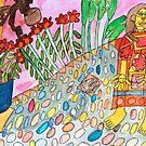 Mexican Garden Zionart Zion Levy Stewart by zionart