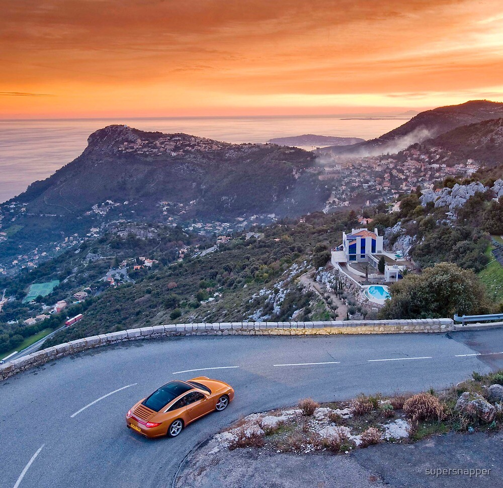 Porsche 911 Targa above Monaco by supersnapper