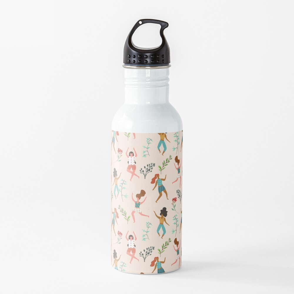 Central Park Workout #illustration #pattern #womensday Water Bottle