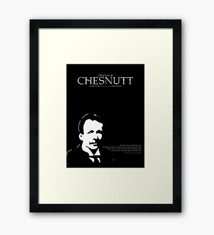 A Quote By Charles Chesnutt Framed Print