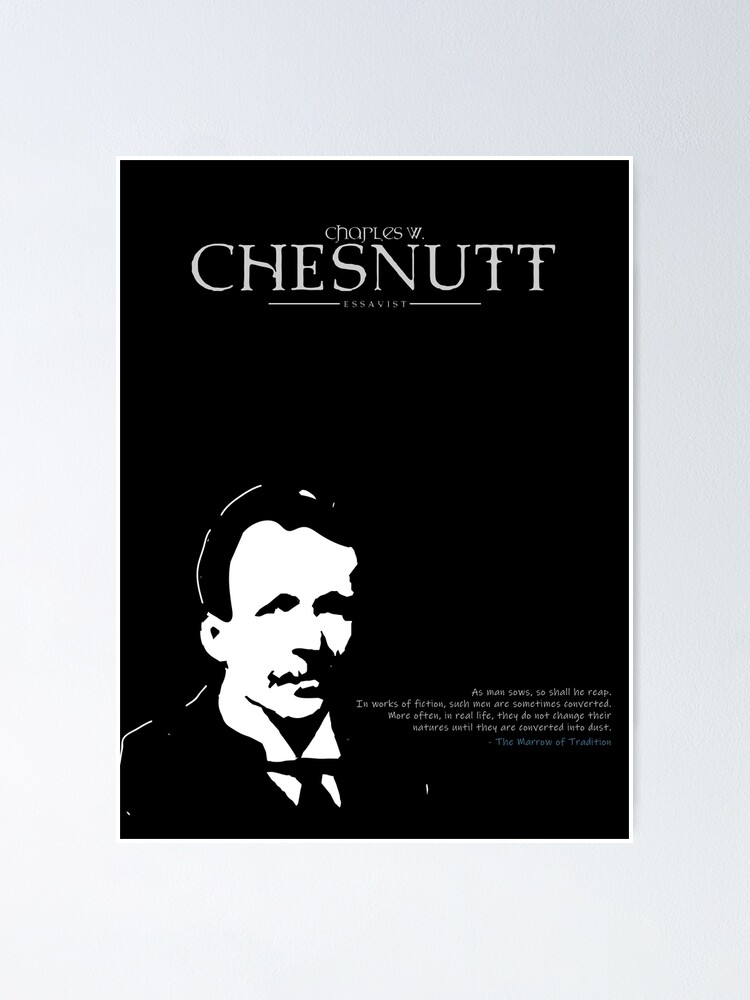 Alternate view of A Quote By Charles Chesnutt Poster