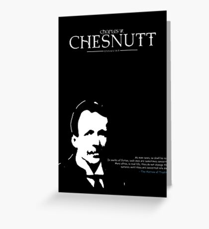A Quote By Charles Chesnutt Greeting Card
