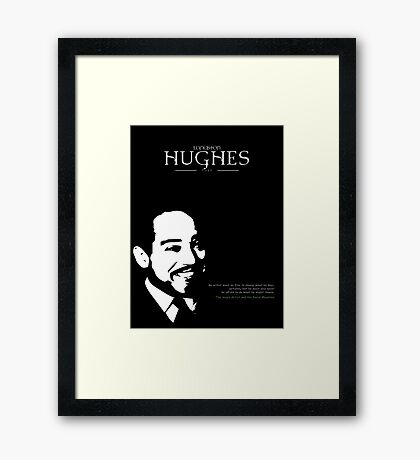 A Quote By Langston Hughes Framed Print