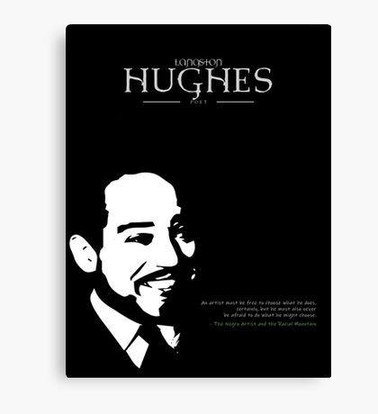A Quote By Langston Hughes Canvas Print