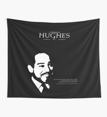 A Quote By Langston Hughes Wall Tapestry