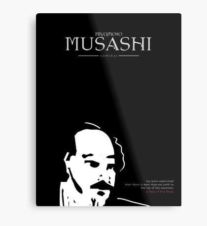 A Quote By Miyamoto Musashi Metal Print