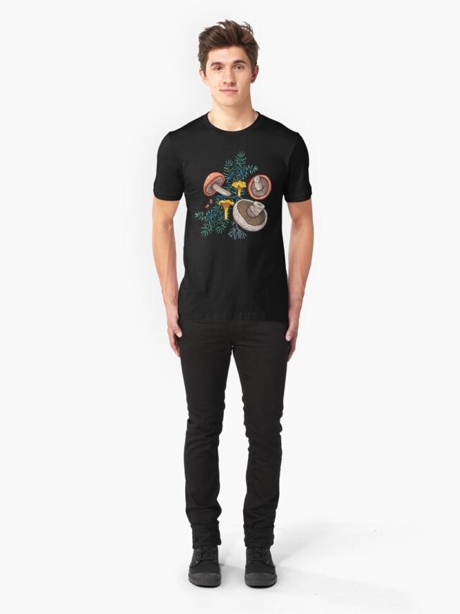 Alternate view of Dark dream forest Slim Fit T-Shirt