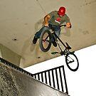 1/4 pipe bike tricks by Albert Dickson