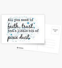 Glaube, Vertrauen und Pixie Staub. Postkarten
