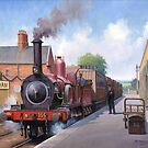 Wareham station 1875 by Mike Jeffries