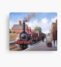 Wareham station 1875 Canvas Print