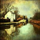 Winter on the Oxford Canal by Lucy Martin