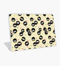 Ghibli Inspired Soot Sprites with Candy Pattern Laptop Skin