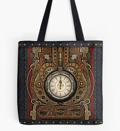 Steampunk Vintage Time Machine Tote Bag