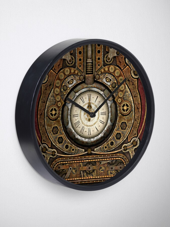 Alternate view of Steampunk Vintage Time Machine Clock