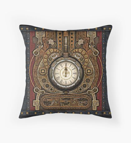 Steampunk Vintage Time Machine Floor Pillow