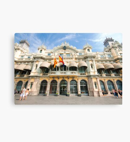 Port De Barcelona  Canvas Print