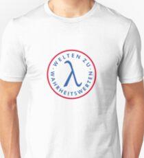 Welte zu Wahrheitswerten (Brust) Unisex T-Shirt