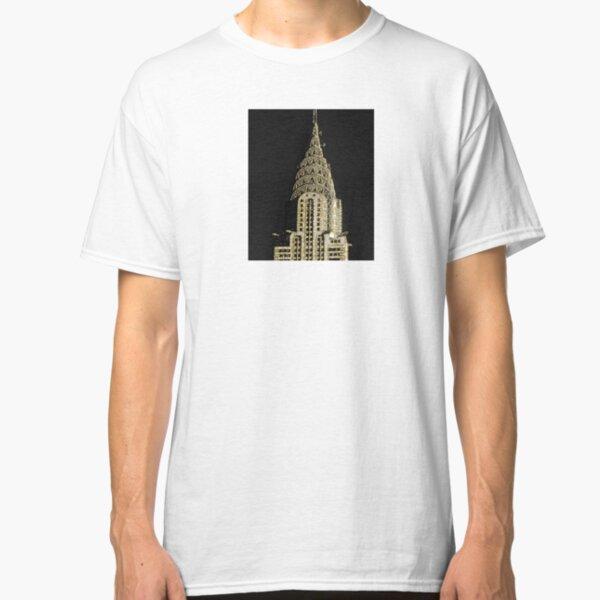 Gold  Chrysler  building New York City Classic T-Shirt