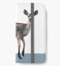 Deer on Slate Blue iPhone Wallet/Case/Skin