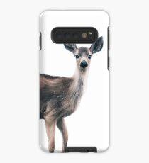 Deer on Slate Blue Case/Skin for Samsung Galaxy