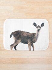 Deer on Slate Blue Bath Mat