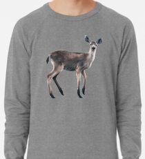 Deer on Slate Blue Lightweight Sweatshirt