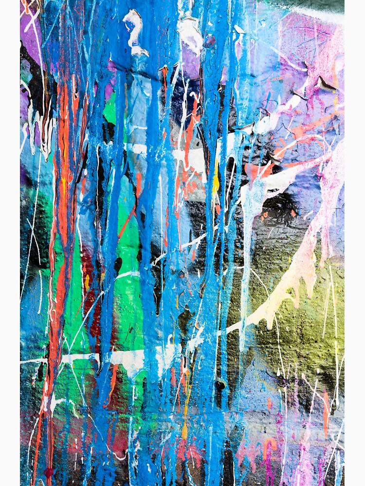 Dripping paint graffiti wall by Juhku