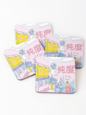MANEKI WASH BLUE Coasters