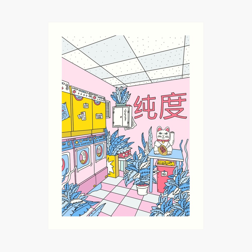 MANEKI WASH BLUE Art Print
