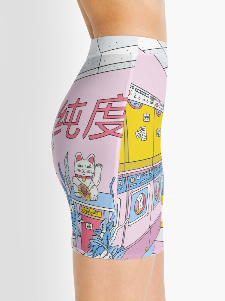 Alternate view of MANEKI WASH BLUE Mini Skirt