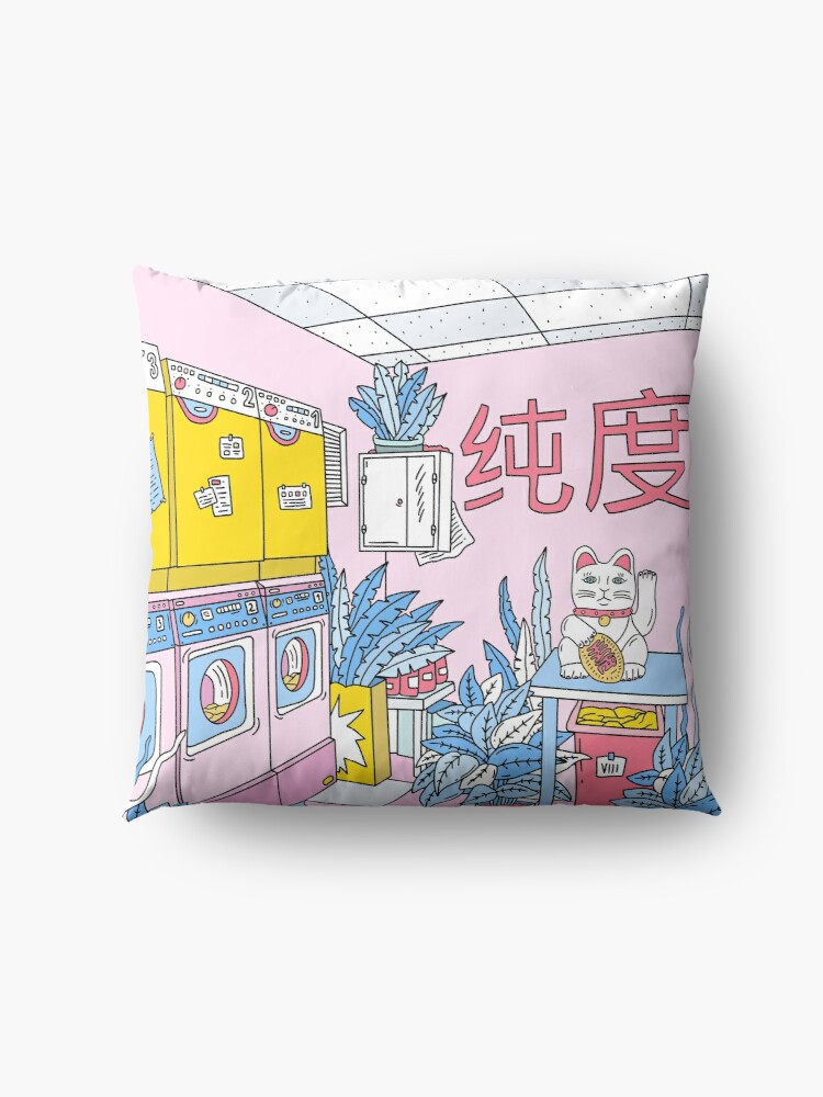 Alternate view of MANEKI WASH BLUE Floor Pillow