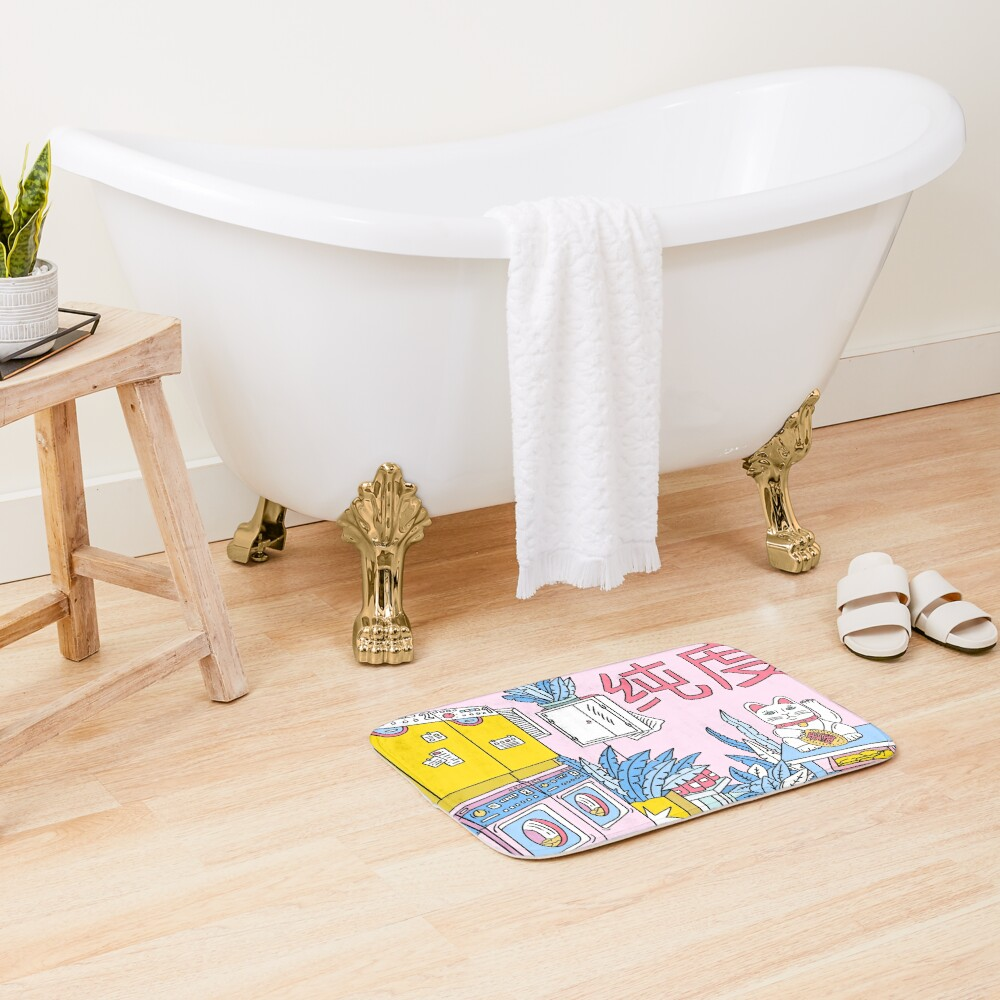 MANEKI WASH BLUE Bath Mat