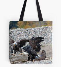 Eagle Family Squabble Tote Bag
