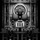 Infernal Steampunk Vintage Machine #3 Monochrome by Steve Crompton