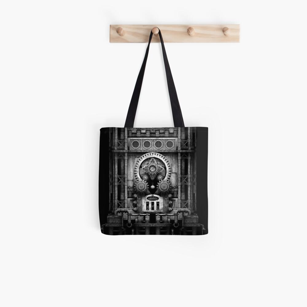 Infernal Steampunk Vintage Machine #3 Monochrome Tote Bag