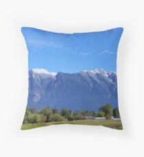 Mission Mountains (St. Ignatius) Throw Pillow