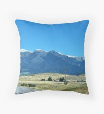 Mission Mountains 2 Throw Pillow
