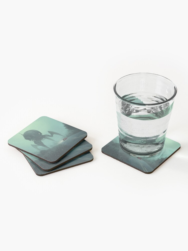 Alternate view of Unusual Tourist.  Coasters (Set of 4)