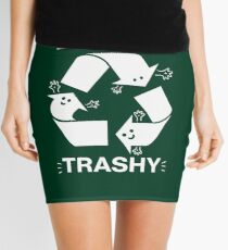 Seien Sie nicht Trashy Recycling-Symbol Minirock